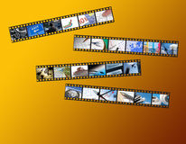 Bandes de film d'affaires Photo libre de droits