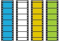 Bandes de film de vecteur Images libres de droits