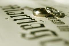 Bandes de mariage Photographie stock libre de droits