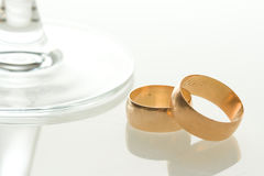 Bandes de mariage Photographie stock