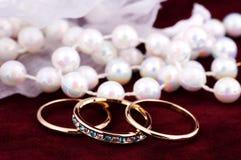 Bandes de mariage Photos libres de droits