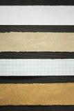 Bandes de papier au bois Images libres de droits