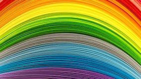 Bandes de papier dans des couleurs d'arc-en-ciel photographie stock libre de droits