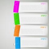 Bandes de papier de cours d'instruction avec des collants de couleur Image stock