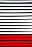 Bandes de polonais de blanc et de rouge Photo libre de droits