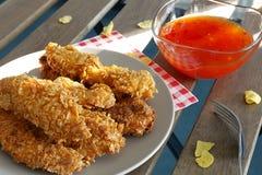 Bandes de poulet Photographie stock