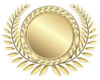 Bandes de récompense d'or Photographie stock libre de droits