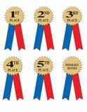 Bandes de récompense ou de gagnant   Photos stock