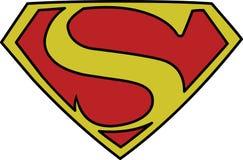 Bandes dessinées 1940 d'action de logo de symbole de Superman S 26 illustration libre de droits