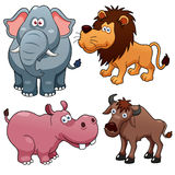 Bandes dessinées d'animaux sauvages Image libre de droits