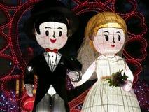 Bandes dessinées de couples de mariage Image libre de droits