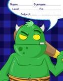 Bandes dessinées de démon de Troll Images libres de droits