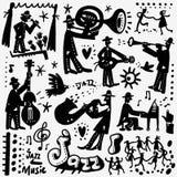 Bandes dessinées de jazz-band Photos libres de droits