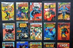 Bandes dessinées de plusieurs superhéros de merveille Images libres de droits