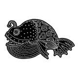 Bandes dessinées mer de bande dessinée ou poissons de rivière Photo stock