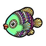 Bandes dessinées mer de bande dessinée ou poissons de rivière Photo libre de droits
