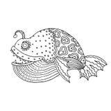 Bandes dessinées mer de bande dessinée ou poissons de rivière Image libre de droits