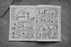Bandes dessinées par wolinski de Georges Image stock