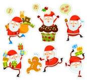 Bandes dessinées drôles de Santa Images stock