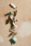 Bandes du papier sablé utilisé photos stock