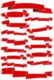 Bandes et drapeaux Photo libre de droits