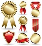 Bandes et médailles de récompense Photos stock