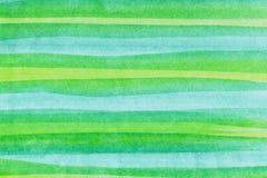 Bandes horizontales d'aquarelles Images stock