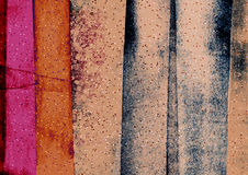 Bandes irrégulières et en pente artistiques, bandes de résumé, blocs texturisés de couleur Photographie stock libre de droits
