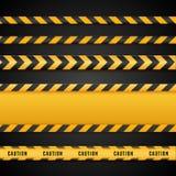 Bandes jaunes et noires de danger Lignes de précaution d'isolement Illustration de vecteur illustration stock