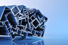 Bandes sectionnelles en aluminium image stock