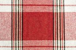 Bandes verticales et horizontales sur le tissu de couleur rouge Image libre de droits
