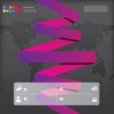 Bandfahnen des modernen Designs mit dem Geschäftskonzept verwendet für Websiteplan Infographics Stockfotos