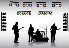 bandgitarr vektor illustrationer