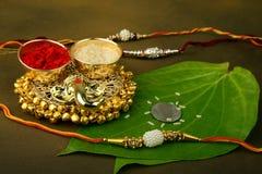 Bandhan Raksha of Rakhi, een Indisch Festival stock foto
