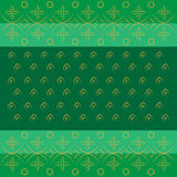 Bandhani bandhej Indian traditional pattern in green Royalty Free Stock Image