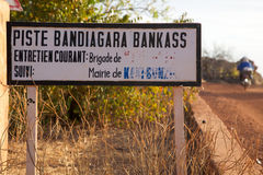Bandiagara Bankass track Royalty Free Stock Photo