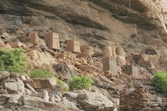 Bandiagara Cliffs. Dogon Country in Mali royalty free stock photo