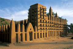 Bandiagara cliffs mosque Royalty Free Stock Photography