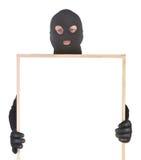Bandido com hollowframe imagens de stock royalty free
