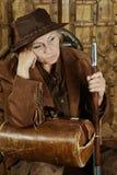 Bandido de sexo femenino maduro Fotografía de archivo