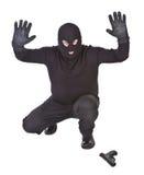 Bandido surrending foto de archivo