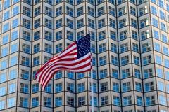 Bandiera adulatoria di U.S.A. Immagini Stock
