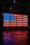 Bandiera al neon degli Stati Uniti in Times Square New York Fotografia Stock