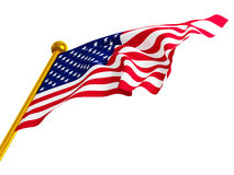 Bandiera americana illustrazione di stock
