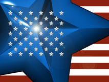 bandiera americana 3d Immagine Stock Libera da Diritti