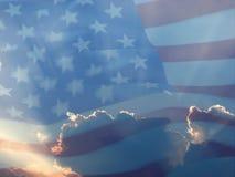 Bandiera americana 7 Fotografie Stock