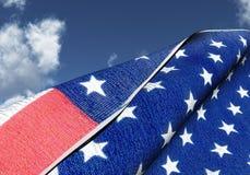 Bandiera americana Fotografia Stock