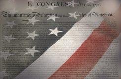 Bandiera americana & costituzione Immagine Stock Libera da Diritti