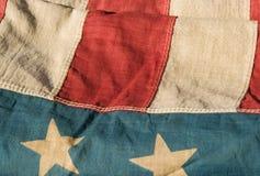 Bandiera americana antica Fotografie Stock