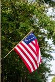 Bandiera americana in anticipo Fotografie Stock Libere da Diritti